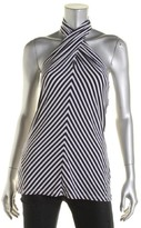 Lauren Ralph Lauren Womens matte Jersey Striped Halter Top