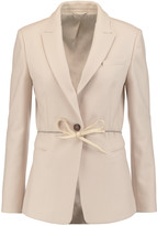 Brunello Cucinelli Belted wool and cashmere-blend felt jacket