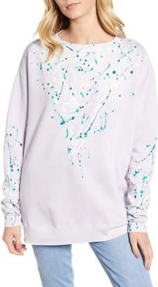 Wildfox Couture Roadtrip Bleach Dripped Sweatshirt