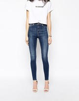 Monki Skinny Jeans In Dark Wash