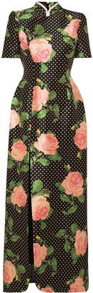 Richard Quinn Floral-Print Maxi Dress