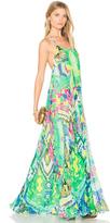Rococo Sand Long Watercolor Dress