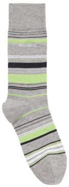 HUGO BOSS Multi-coloured striped socks in a mercerised cotton blend