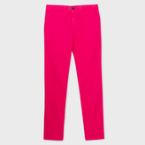Paul Smith Men's Slim-Fit Fuchsia Garment-Dye Pima-Cotton Stretch Chinos