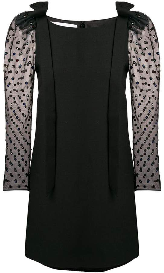 Valentino sequined puff-sleeve mini dress