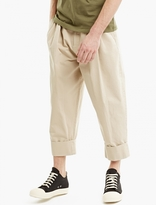 J.w. Anderson Flax Pleat-front Baggy Trousers