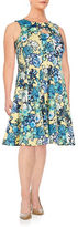 Gabby Skye Plus Floral Pleated Dress