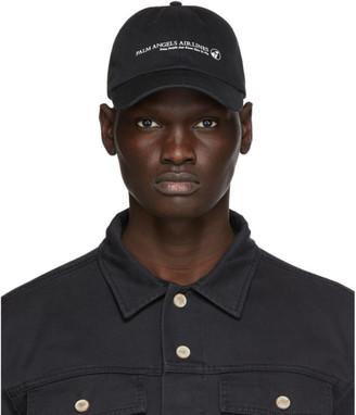 Palm Angels Black Airlines Cap