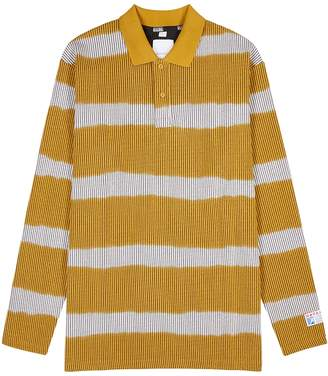 Martine Rose Napa By Striped Seersucker Polo Shirt
