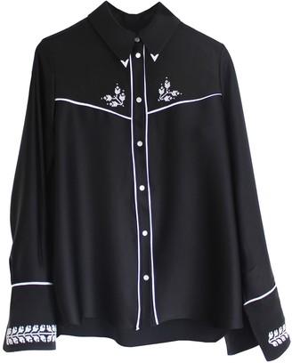 Florence Bridge Embroidered Cowboy Shirt Black