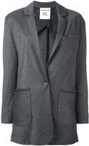Semi-Couture Semicouture - patch pocket blazer - women - Virgin Wool/Polyester/Rayon/Spandex/Elastane - 40