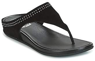 FitFlop BANDA TOEPOST WITH STUDS women's Flip flops / Sandals (Shoes) in Black