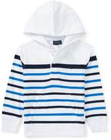 Ralph Lauren Striped Cotton Jersey Hoodie