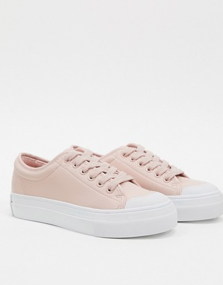 Vero Moda plimsoles with gum sole-Pink