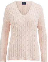Polo Ralph Lauren Cable-Knit Side-Slit Sweater
