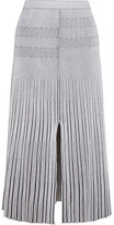 Proenza Schouler Plated-knit Midi Skirt - White