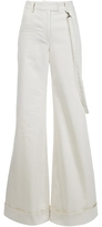 Rosie Assoulin B Boy Super Wideleg Trouser - Ivory