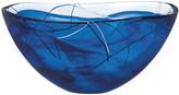 Kosta Boda Orrefors Contrast Large Bowl, Blue