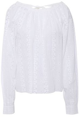 Joie Broderie Anglaise-cotton Top