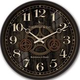 FirsTime 12 in. Round Industrial Gears Wall Clock