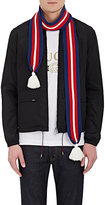 Gucci Men's Striped Wool Scarf-NAVY