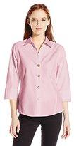 Foxcroft Women's Petite 3/4 Sleeve Paige Essential Non Iron Shirt