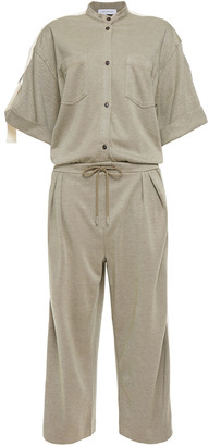Ninety Percent Cropped Organic Cotton-blend Twill Jumpsuit