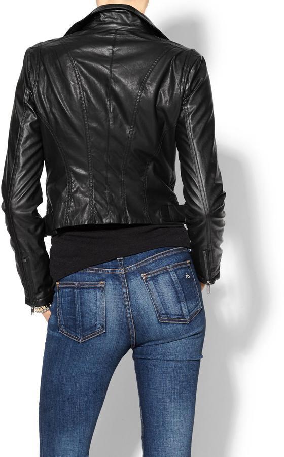 Juicy Couture Ark & Co. Vegan Leather Moto Jacket