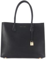 MICHAEL Michael Kors Michael Kors Mercer black leather tote bag Black