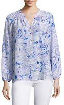 Lilly Pulitzer Elsa Silk Long Sleeve Blouse