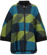 M Missoni Intarsia-Knit Wool Coat