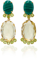 Bounkit Lemon Quartz and Peridot Two-Way Earrings