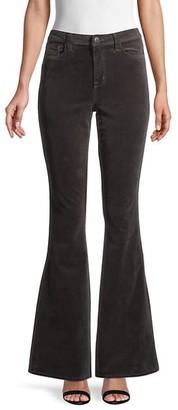 L'Agence Bell High-Rise Flare Velvet Jeans