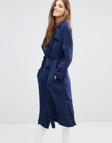 Girls On Film Belted Trench