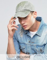 Reclaimed Vintage Washed Baseball Cap In Khaki