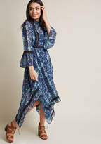 Retro Midi Dress with Bell Sleeves in L - A-line Maxi by ModCloth