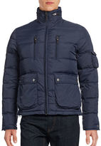 Black Brown 1826 Multi-Pocket Puff Jacket