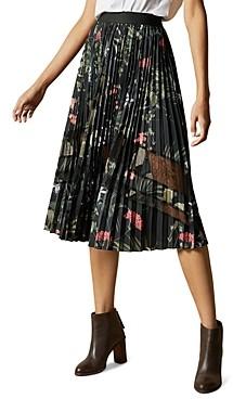 Ted Baker Abilen Highland Pleated Midi Skirt