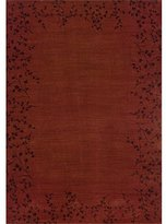 Contemporary Area Rug, Oriental Weavers Sphinx Allure 10'x13' Burgundy