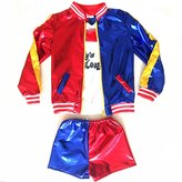 J-J DECO Kids Girls Coat Shorts Tops Set Halloween Costume (Kid's-M For 4-6Y)