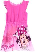 H&M Printed Chiffon Dress - Cerise/Minnie Mouse - Kids