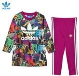 adidas Multicolour Animal Dress and Leggings Set