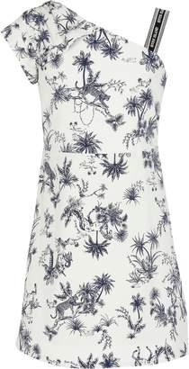 River Island Girls White printed one shoulder dress
