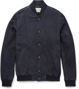 Oliver Spencer - Slim-fit Suede Bomber Jacket