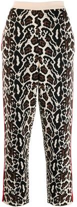 Stella McCartney Animal-Jacquard Knitted Trousers