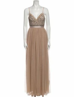 Needle & Thread V-Neck Long Dress w/ Tags