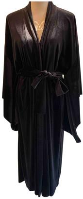 Norma Kamali Black Velvet Coats