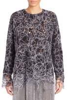 ADAM by Adam Lippes Embroidered Threadwork Sweatshirt