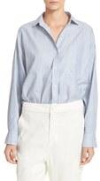 Vince Women's Linen & Cotton Crop Shirt