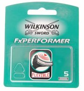 Wilkinson Sword FxPerformer, 5 Count Refill Blades (Comparable to Schick Tracer & TracerFx)